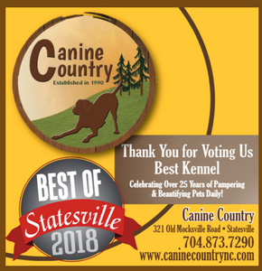 Thank you for voting us best kennel of Statesville 2018.